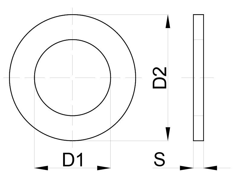 Картинки по запросу Шайбы плоские латунные DIN 125